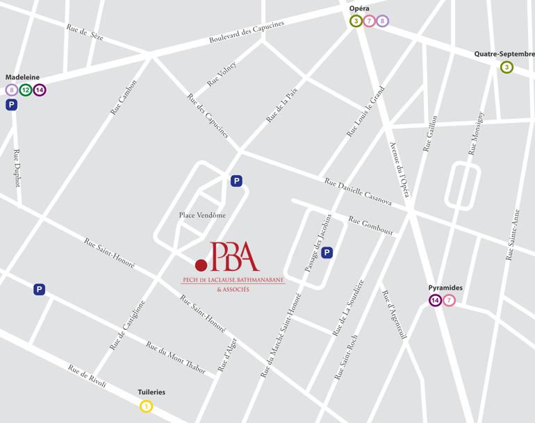Plan accès Pech de Laclause