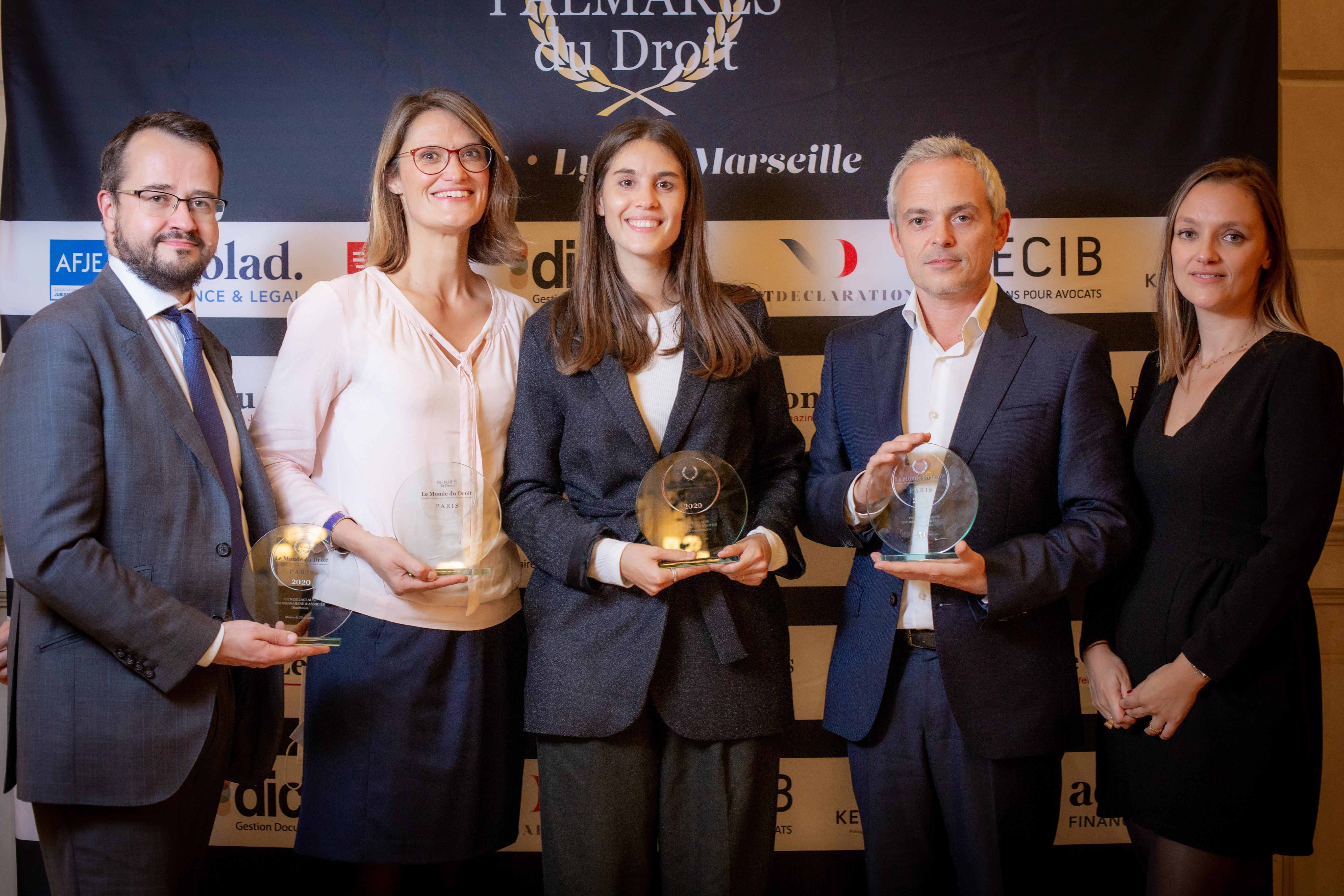 Visuel PBA récompensé par 4 prix au Palmarès du droit 2020